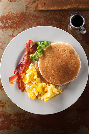 $4.99 buttermilk pancakes breakfast special