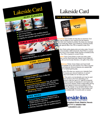 Lakeside Player's Card